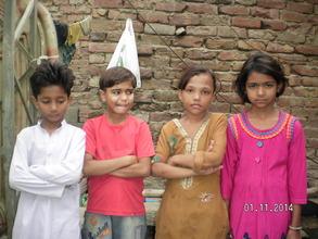 young girls near Saluddin will go to school