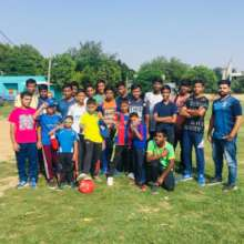 Football match with Adidas team