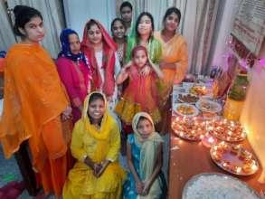 Kids celebrating Diwali
