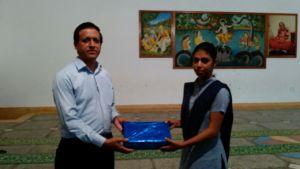Neetu getting awarded for her bravery