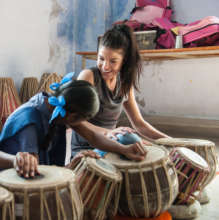 Marie in the Tabla Class