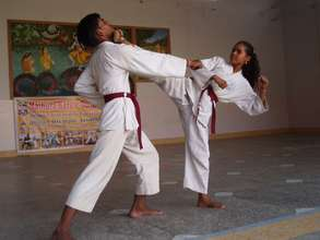 Demonstrating a Karate Move