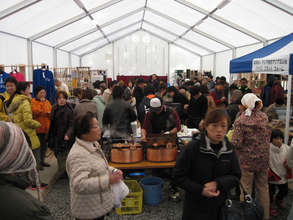 Crowds in the Tent Shop