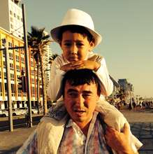 Alikhan with his dad
