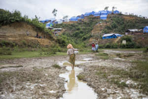 Makeshift camps for Rohingya people in Bangladesh