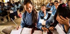 School girls studying in Nepal