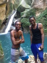 "New trip leaders Jure and Merove at ""Bassin Bleu"""