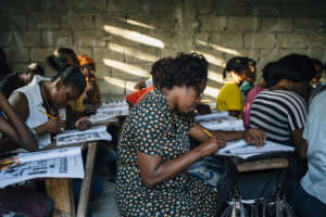EIM's women's Elementary class working hard