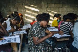 EIM's women's beginner class in Exams