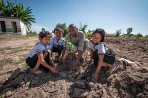 Landmine Detection : Tree Planting Ceremony