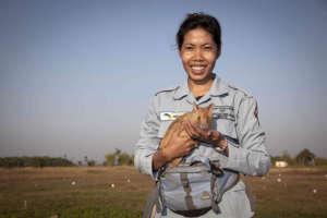 Sophea, APOPO Rat Handler