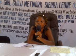 Ayeisha aged 14 chairing a press conference
