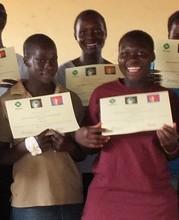 Girls get certificates after vocational training