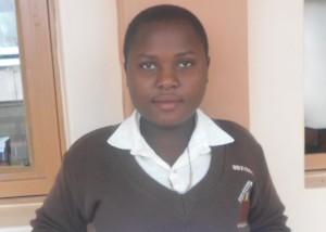 Maritina at Nyaka Vocational Secondary School