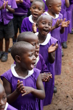 Girls in their Nyaka Primary School uniforms