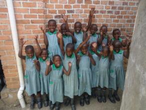 Girls from Kutamba nursery class