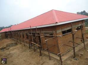 Girls' Dormitory with new roof (back & side view)