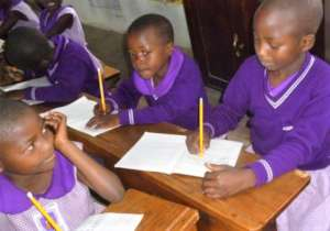 Nyaka Primary School girls in class