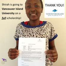 Shirah is off to University thanks to YOU!