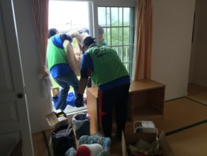 Cleaning the local family`s home