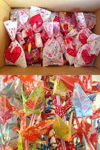Valenetine's goodie bags & 1000 folded cranes