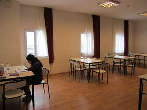 Girl Studying in Study Area