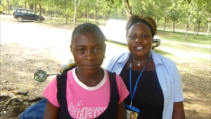 Peer Educator with Ruth ToT team leader Kasese