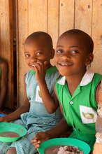 Kutamba Primary Students Eating Lunch