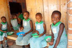 Kutamba Primary Nursery Students Eating Lunch