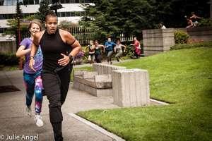 PKV Head Coach Brandee leads a run at NAWPJ