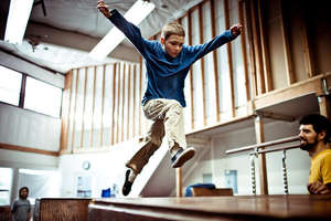 Build a parkour gym - teach to overcome obstacles