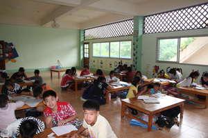 Half Day School children studying english