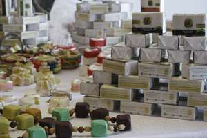 Business owner Huwaida's products: Meera's soaps