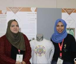Reham & Saja take part in an exhibition.