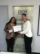 Entrepreneur Roula with TYO's Nadine.