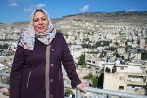 Entrepreneur In'am visits the TYO Center in Nablus