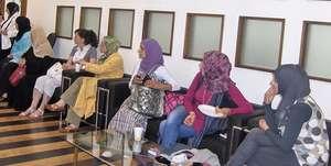 WEL participants prepare for a training