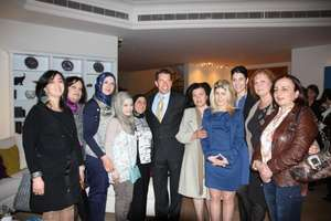 WEL women at Ambassador Fletcher's home