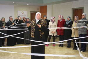 The women join activities for Int'l Women's Day!