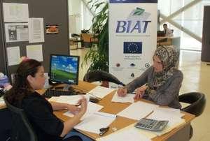 Houwayda works on her business plan