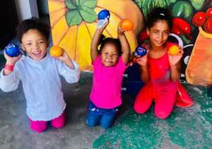 Happy faces on some of our youngest children!