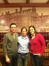 Leonardo Letelier with two former summer interns