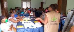 entrepreneurship training session with women