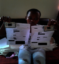 ID and birth certificate for her and her brother