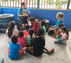 Reading time with the students