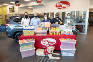 Supplies collected by the Fitzgerald Auto team