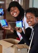 MGEF Student Distributes Sanitary Napkins