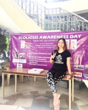 Amanda at Scoliosis Awareness event in Davao City