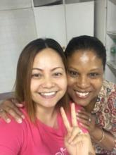 Amanda & DTF's Founder Ouida Duncan at SPMC Davao
