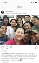 Selfie with Amanda (in pink) w/ patients July 2019